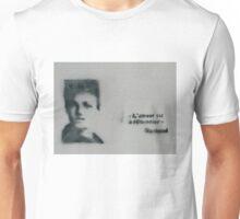 L'amour est à réinventer Arthur Rimbaud Stencil Art Unisex T-Shirt