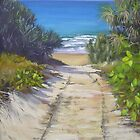 Rules Beach Bundaberg  Queensland Australia  Oil Painting by Chris Hobel