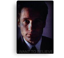 X-files, Fox Mulder,  Canvas Print