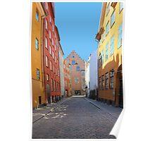 Magstraede - the oldest street in Copenhagen, Denmark Poster