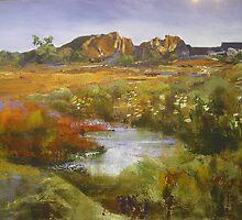 Outback Australian Landscape Painting by Chris Hobel