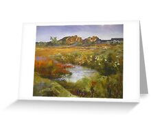 Outback Australian Landscape Painting Greeting Card