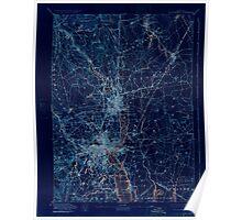 Massachusetts  USGS Historical Topo Map MA Providence 352976 1894 62500 Inverted Poster