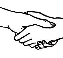 handshake by theladyofbagend