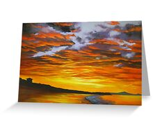Noosa Beach Sunset, Queensland, Australia Greeting Card