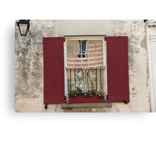 Charleston Window Canvas Print