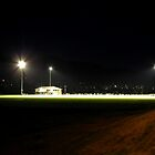 Football Field with flood lights by Craig Stronner
