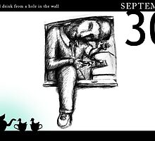 September 30th - A small drink from a hole in the wall by 365 Notepads -  School of Faces