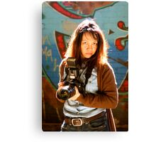Camera Lady Canvas Print