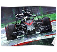 2015 McLaren Honda F1 Austrian GP Alonso  Poster