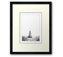 Sailing Back Framed Print
