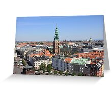 Aerial View of Copenhagen, Denmark Greeting Card