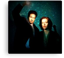 X-files, Scully and Mulder Canvas Print