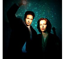 X-files, Scully and Mulder Photographic Print