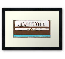 JDWOODYARD WEST Framed Print