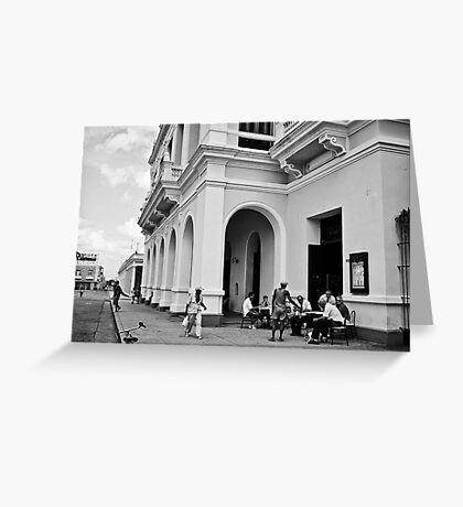 Cuban street life Greeting Card