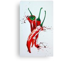 Chilli vertical Canvas Print