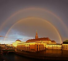 Double Rainbow over Christiansborg Palacethe Houses of Parliament in Copenhagen, Denmark by Atanas Bozhikov NASKO