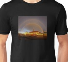 Double Rainbow over Christiansborg Palacethe Houses of Parliament in Copenhagen, Denmark Unisex T-Shirt