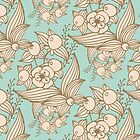 Vector other flowers seamless decorative pattern by julkapulka