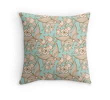 Vector other flowers seamless decorative pattern Throw Pillow