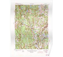 Massachusetts  USGS Historical Topo Map MA Sterling 352231 1942 31680 Poster