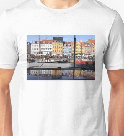 Nyhavn area in Copenhagen, Denmark Unisex T-Shirt