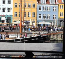 Nyhavn area in Copenhagen, Denmark Sticker