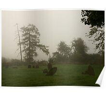 Wadenhoe foggy morning 2 Poster
