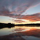 Dreamy Sunset- Silver Lake  by Tracy Faught