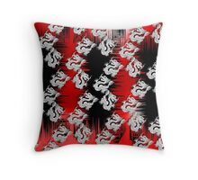 Chinese Dragon Red Black Design Throw Pillow