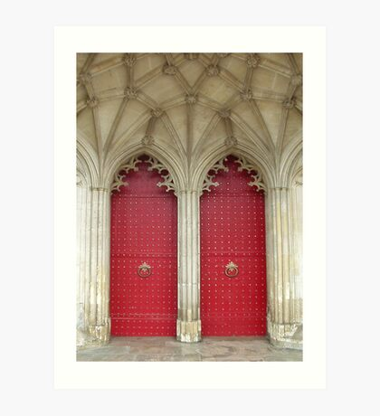 Back Doors of Winchester Cathedral Art Print