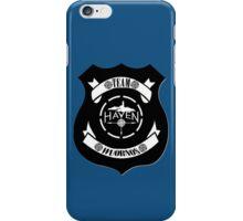 Haven Team Wuornos Police Badge Black Logo iPhone Case/Skin