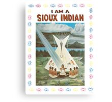 I am a Sioux Indian (book cover) Canvas Print