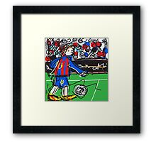 Messi Framed Print