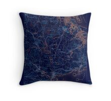 Massachusetts  USGS Historical Topo Map MA Salem 352998 1888 62500 Inverted Throw Pillow