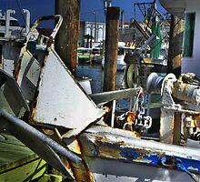 Shrimp Boats At Dock by Savannah Gibbs