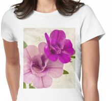 Calibrachoa Petunia Blossoms - Macro Womens Fitted T-Shirt