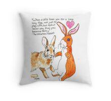 Real Rabbit Throw Pillow