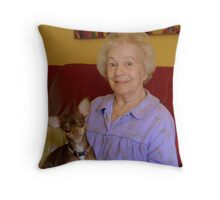 My Mom and her Dog Throw Pillow
