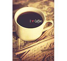 I Heart Coffee Photographic Print