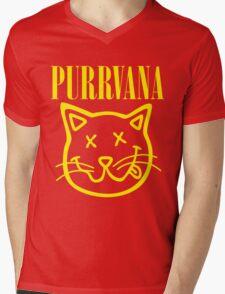 Purrvana Mens V-Neck T-Shirt