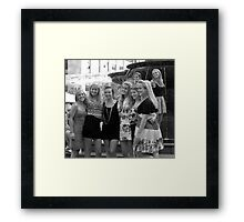 Cuties at the Fountain in Cincinnati Framed Print