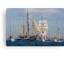 Falmouth Tall ships - Funchal 500 Canvas Print