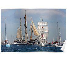 Falmouth Tall ships - Funchal 500 Poster