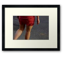 Crossing the Street Framed Print