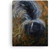 Warned!!! - Striped Skunk Canvas Print