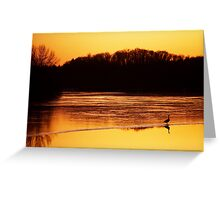 Sunset McKenzie Reservoir Winter Greeting Card