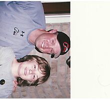 Isaac and Michael Cuddyer from the minnesota twins Photographic Print