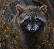 Circular Mask - Raccoon by john mcfaul